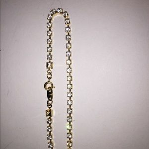 Jewelry - Gold and rhinestone large bracelet or anklet